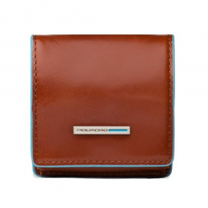 Coin holder  Piquadro Blue square PU2634B2 Arancio