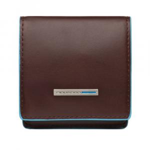 Porta spiccioli Piquadro Blue square PU2634B2 Mogano