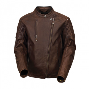 ROLAND SANDS DESIGN CLASH Giubbotto in Pelle Uomo - Marrone