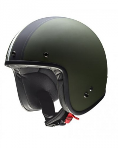 GIVI 20.7 OLDSTER Jet Helmet - Military Green and Black