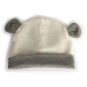Cappellino  con orecchie in cotone biologico e lana