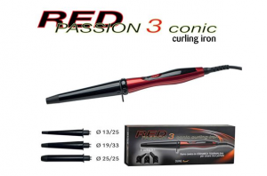 Red Passion 3 conic curling arricciacapelli