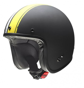 GIVI 20.7 OLDSTER Jet Helmet - Black and Yellow