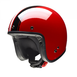 GIVI 20.7 OLDSTER Jet Helmet - Red and Black