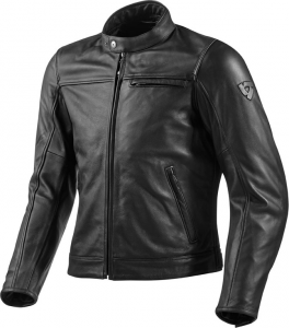 REV'IT ROAMER Motorcycle Leather Jacket - Black
