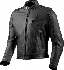 REV'IT REDHOOK Motorcycle Leather Jacket - Black