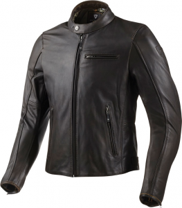 REV'IT FLATBUSH Motorcycle Leather Jacket - Dark Brown