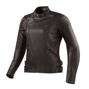 REV'IT BELLECOUR LADIES Woman Motorcycle Leather Jacket - Brown