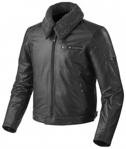 REV'IT PILOT Motorcycle Leather Jacket - Black