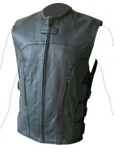 BEFAST TESEO Leather Waistcoat - Black