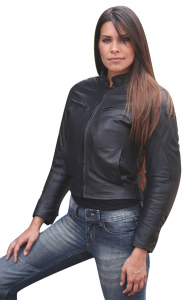 BEFAST HELBERT LADY Motorcycle Leather Jacket - Black