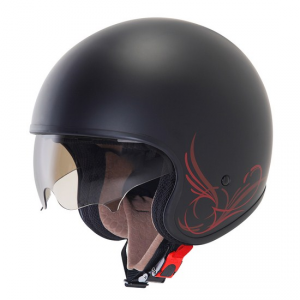 SUOMY 70'S CUSTOM Casco Jet - Nero Opaco