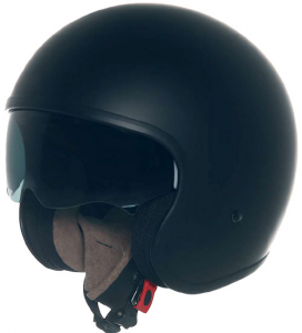 SUOMY 70'S CUSTOM PLAIN Casco Jet - Nero Opaco