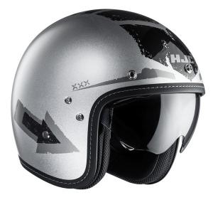 HJC FG 70S TALES MC10 Jet Helmet - Silver and Black