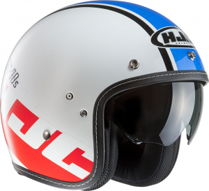 HJC FG 70S VERANO MC2 Jet Helmet - White and Blue