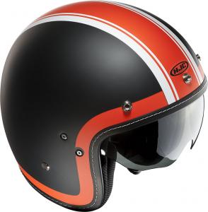 HJC FG 70S HERITAGE MC7F Jet Helmet - Black and Orange