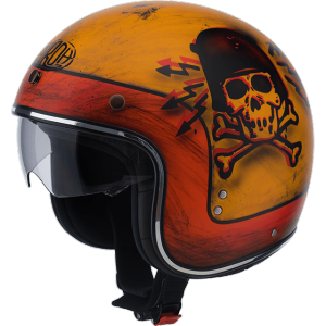 AIROH RIOT SKULLBOY Jet Helmet - Orange