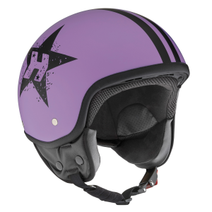 Casco jet Hevik HV9 PURPLE STAR