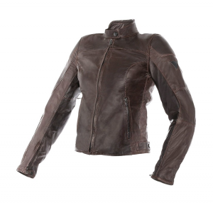 DAINESE MIKE Woman Motorcycle Leather Jacket - Brown
