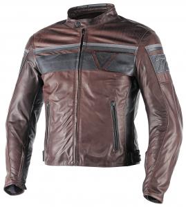 DAINESE BLACKJACK Motorcycle Leather Jacket - Brown and Black