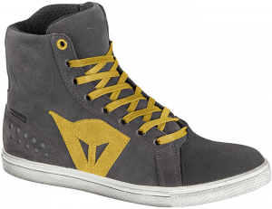 DAINESE STREET BIKER D-WP Woman Shoes - Anthracite Grey and Yellow