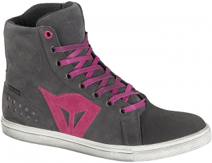 DAINESE STREET BIKER D-WP Woman Shoes - Anthracite Grey and Fuxia