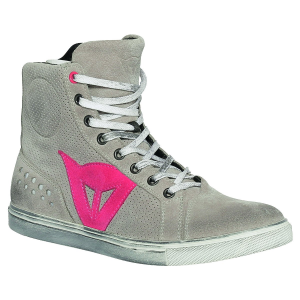 DAINESE STREET BIKER Woman Shoes - Grey and Orchid Pink