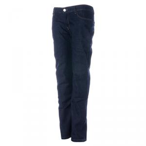 OVERLAP VALENCIA RAW Jeans Moto Donna - Blu Scuro