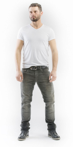 MOTTO WEAR GALLANTE Jeans Moto - Grigio
