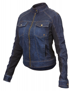 HEVIK GIULIA Woman Motorcycle Denim Jacket - Blue