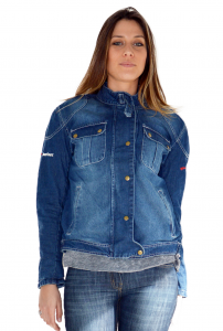 BEFAST JAMES LADY Motorcycle Denim Jacket - Blue