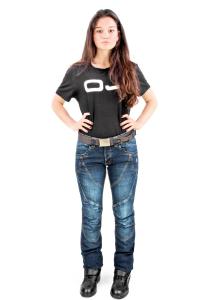 Jeans moto donna OJ Muscle Lady blu