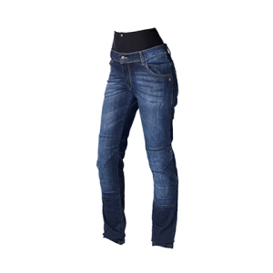 HEVIK STONE Woman Motorcycle Jeans - Blue