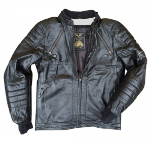 BLACK CAFE LONDON LJ10678 Giubbotto Moto in Pelle - Nero