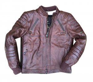 BLACK CAFE LONDON LJ10678 Giubbotto Moto in Pelle - Marrone