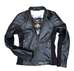 BLACK CAFE LONDON LJ10685 Woman Motorcycle Leather Jacket - Black