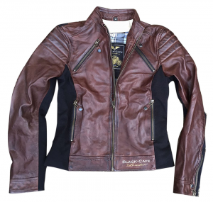 BLACK CAFE LONDON LJ10685 Woman Motorcycle Leather Jacket - Brown