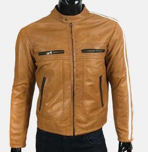 PRO FUTURE Motorcycle Leather Jacket - Brown