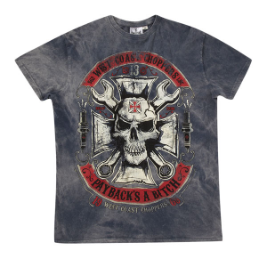 T-shirt West Coast Choppers Mechanic Vintage Blu