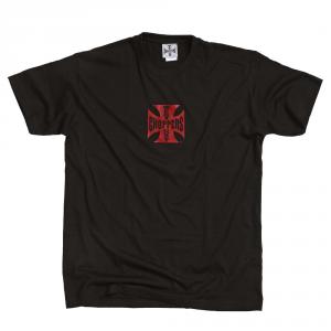 T-shirt West Coast Choppers Iron Original Cross Nero Rosso