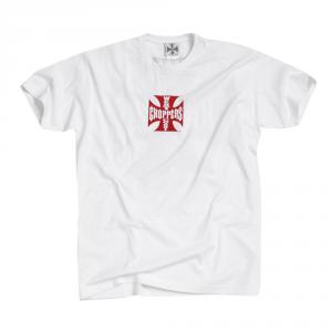 T-shirt West Coast Choppers Iron Original Cross Bianco Rosso