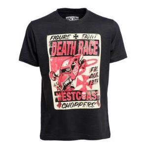 T-Shirt West Coast Choppers Death Races Tee Nero