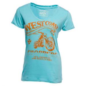 T-shirt donna West Coast Choppers El Diablo Tee Azzurro