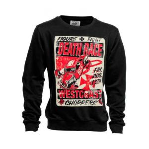 Felpa West Coast Choppers Death Races Nero Rosso
