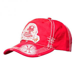 Cappellino West Coast Choppers Death Proof Hat Vintage Rosso