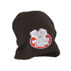 Cappellino beanie West Coast Choppers Panhead Nero Bianco Rosso