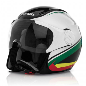 ACERBIS X-JET ON BIKE Jet Helmet - White - Green and Black
