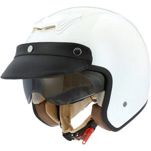 ASTONE SPORTSTER 2 MONOCOLOR Jet Helmet - Gloss Black