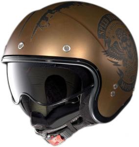 Casco jet Nolan N21 Speed Junkies scratched flat copper