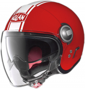 Casco jet Nolan N21 Visor Duetto rosso corsa